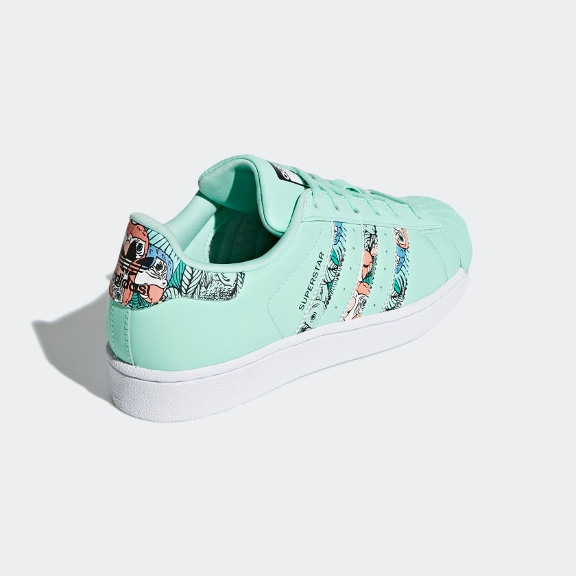 designer fashion bd438 a5959 Tenis adidas Superstar J Aire Tropical Trendy Mujer