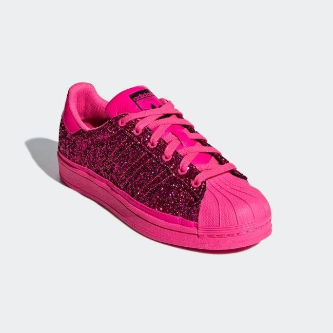 Tenis adidas Superstar Mujer Rosa Brillante Mujer Originales
