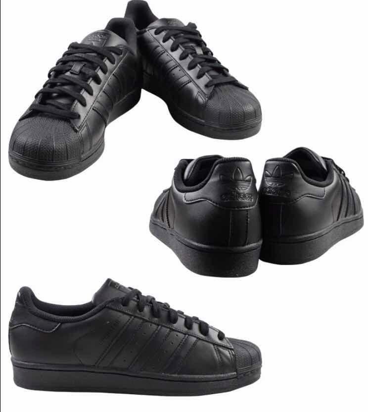 Tenis adidas Superstar Negro Total Corte Piel  .8 616c7321f2d
