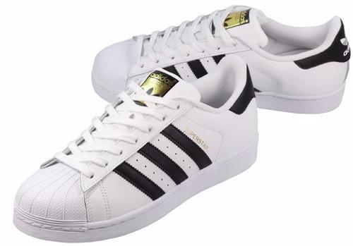 tenis adidas superstar original fundation oro c77124 promo