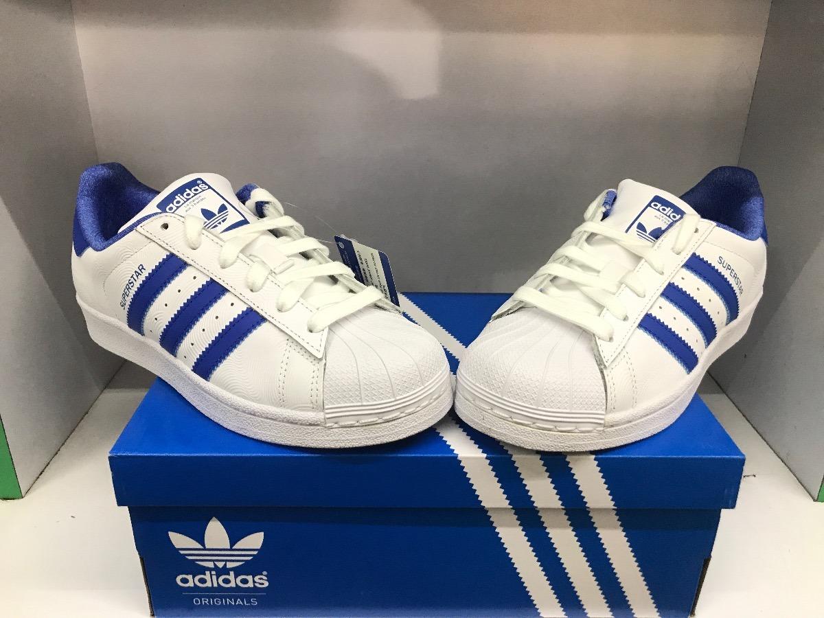 2cabe1be tenis adidas superstar originales color blanco/azul nuevo. Cargando zoom.