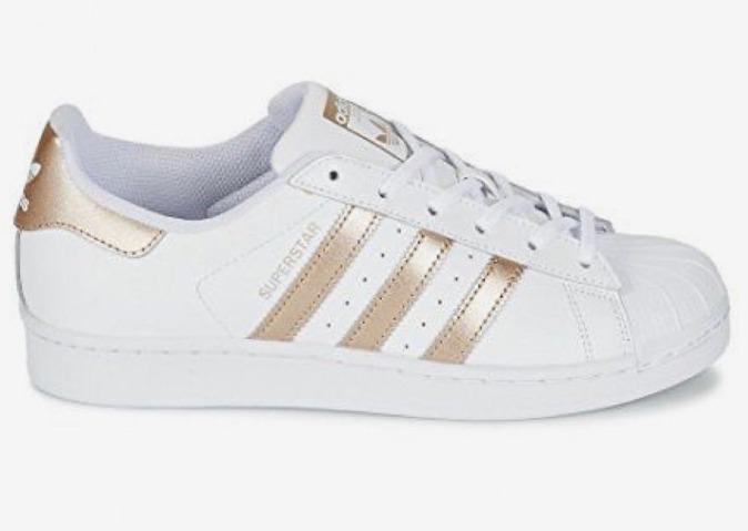 134f21384db Tenis adidas Superstar Orignals Rose - Gold Frete Gratis - R  205