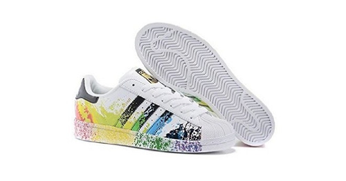 tenis adidas superstar paint pride pack dama