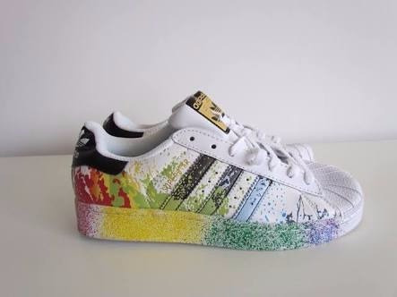 adidas superstar pintura