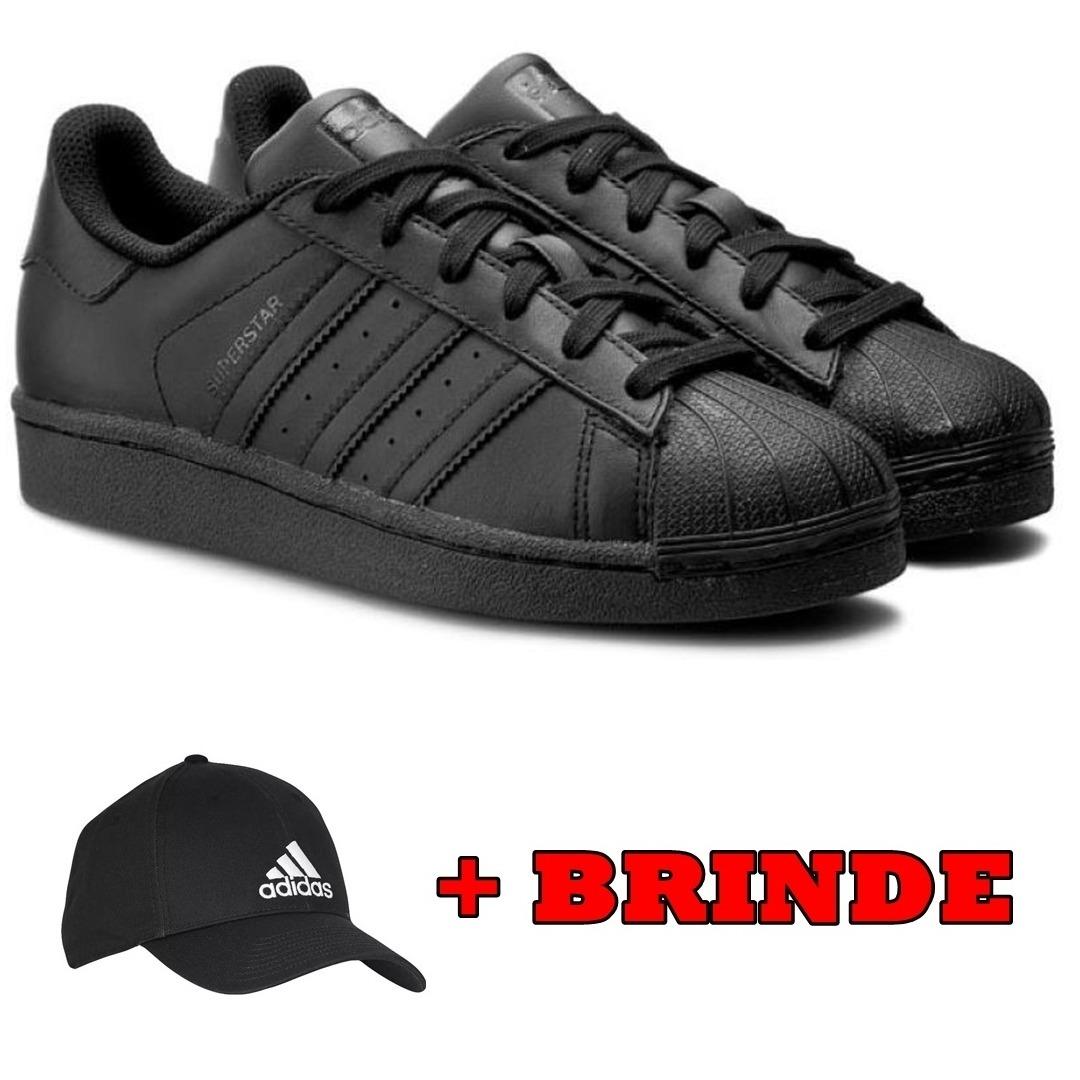 c796a93bcd0 tenis adidas superstar preto couro black original envio 24hs. Carregando  zoom.