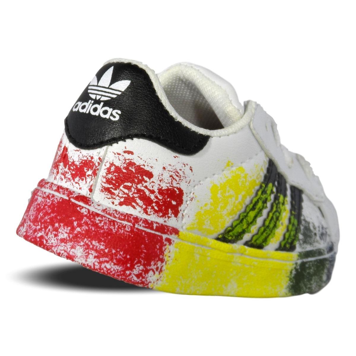 new style d8845 dd7b1 tenis adidas superstar pride pack blanco camuflaje bebe. Cargando zoom.