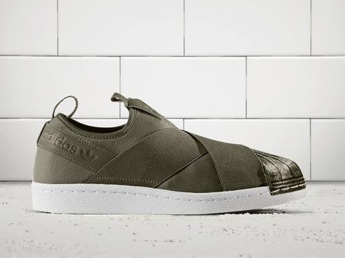bce51f5a1 Tenis adidas Superstar Slip On Verde -   1