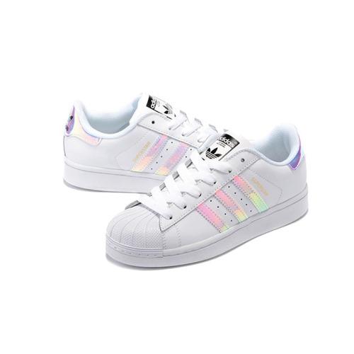 tenis adidas superstar tornasol iridescent. aq6278 dama niña