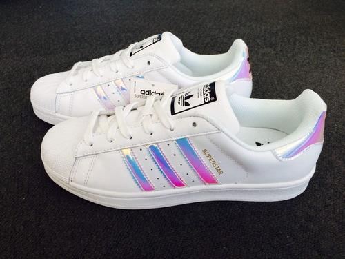 tenis adidas superstar tornasol iridescent con caja enviogra