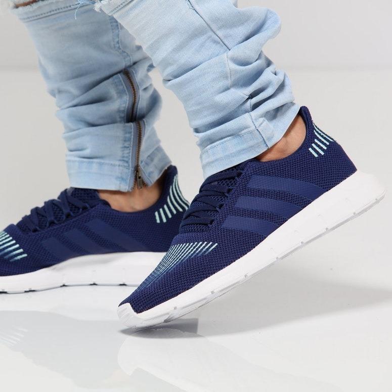new concept 5d4bc 6740d tenis adidas swift run azul m hombre casual original a meses