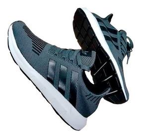 96d6bc78e82e Tenis adidas Swift Run Gris Hombre Zapatillas Original