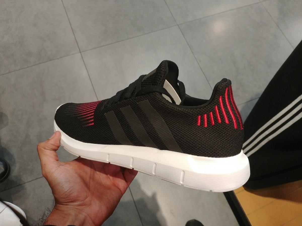 Tenis adidas Swift Run Hombre Negro Rojo Nuevos Originales