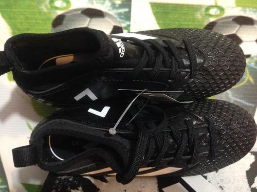 tenis adidas turf ace 17.3 niño 100%originales botita negro