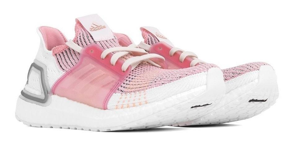 Tenis Zapatillas adidas Ultrboost New Dama Blanco Rosa