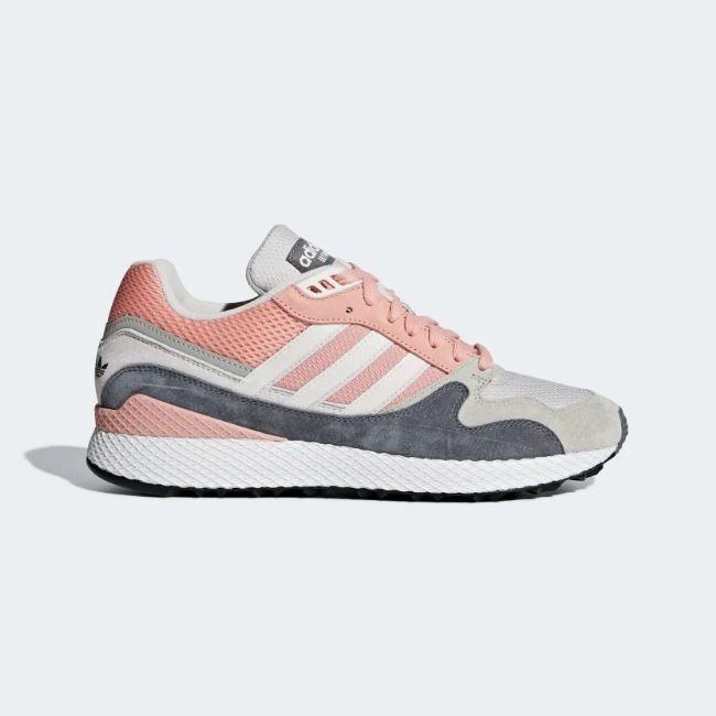zapatos adidas de hombre gris con rosa