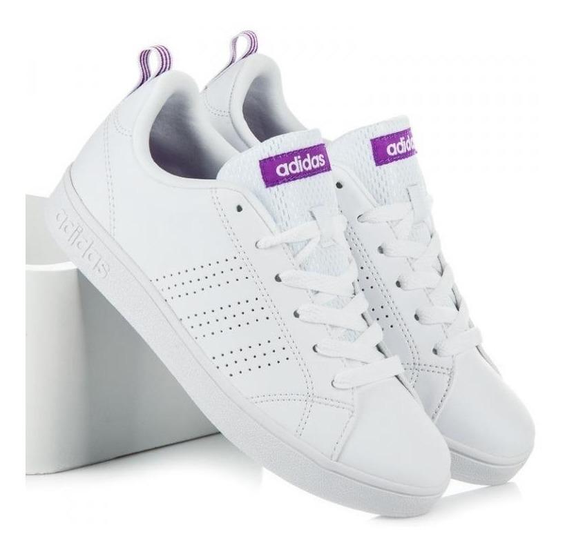 Tenis adidas Vs Advantage Blanco-morado Dama