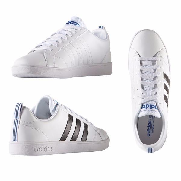 Tenis adidas Vs Advantage Blancos Hombre Originales Casuales