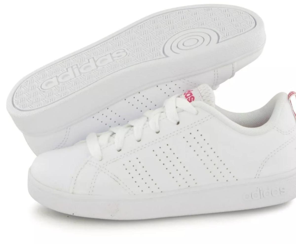d01b5c69c095a Tenis adidas Vs Advantage Clean K Blanco fucsia -   899.00 en ...