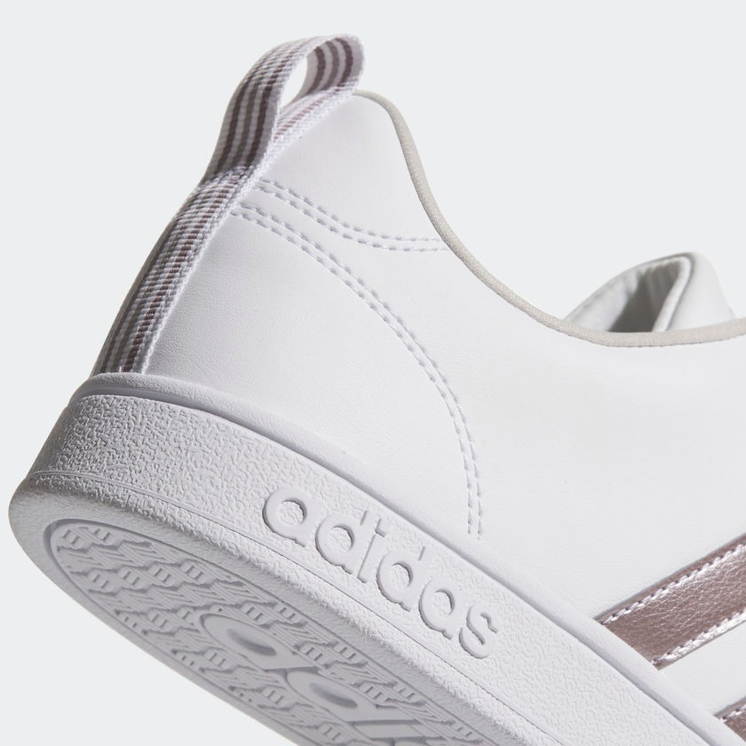 Tenis adidas Vs Advantage W Blanco-plata Para Mujer 67426