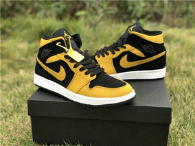 air jordan amarillo y negro
