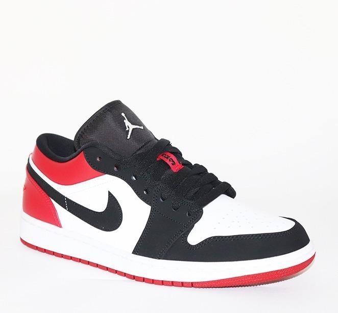 Tenis Air Jordan 1 Low Whiteblack gym Red