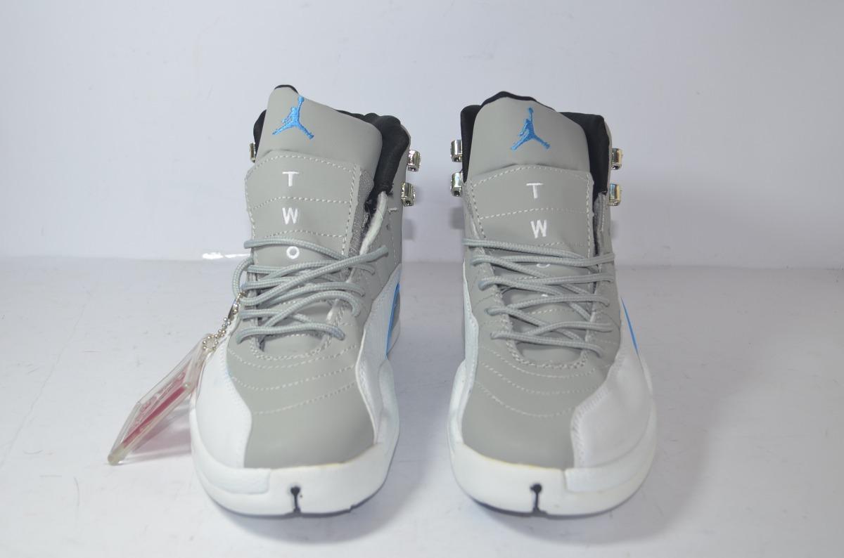 1761a54f52db12 ... authentic tenis air jordan retro 12 gris c azul envío gratis. cargando  zoom. a5e76