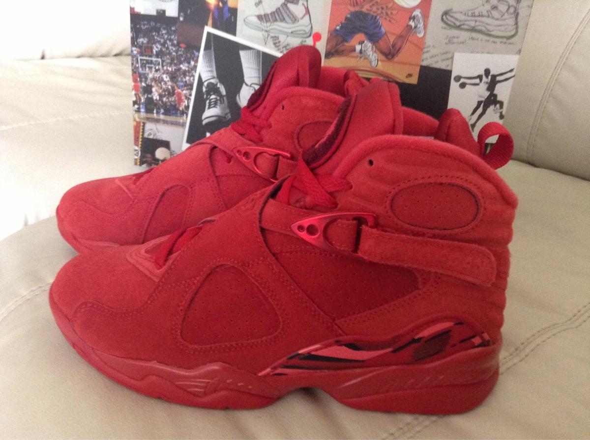 release date dfc4f 39414 Tenis Air Jordan Retro 8 Valentines Days 24.5mx Dama O Niño