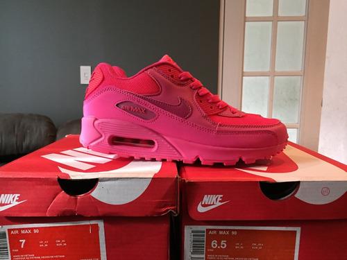 tenis air max 90 rosa fucsia en caja hombre mujer envío dhl