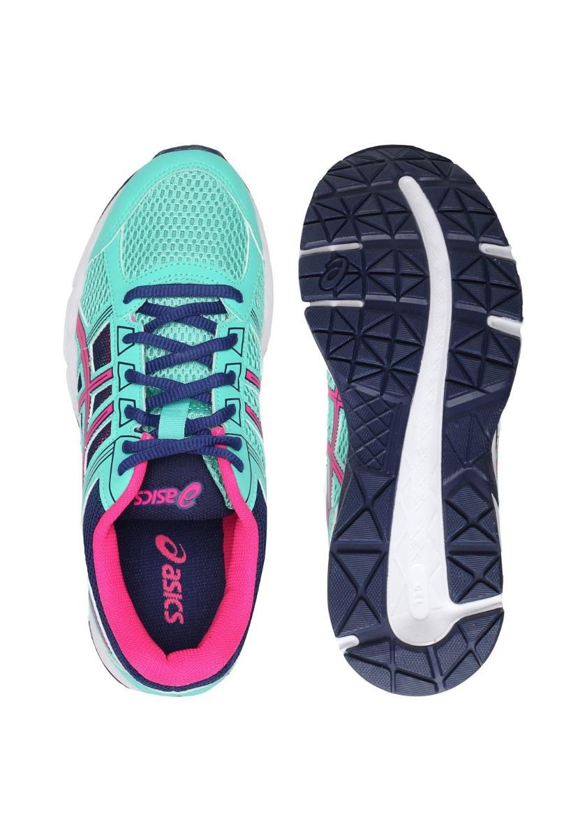 tenis asics feminino gel contend 4 a original vde azul rosa. Carregando zoom . fc0cebe782080