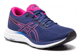 Tenis Asics Gel Excite 6 Azul Mujer Correr Original A Meses