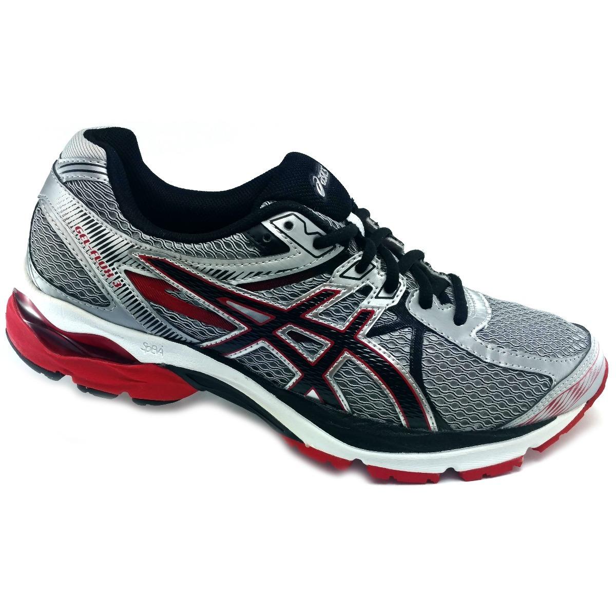 69914a7b67 tenis asics gel flux 3 plata rojo correr running. Cargando zoom.
