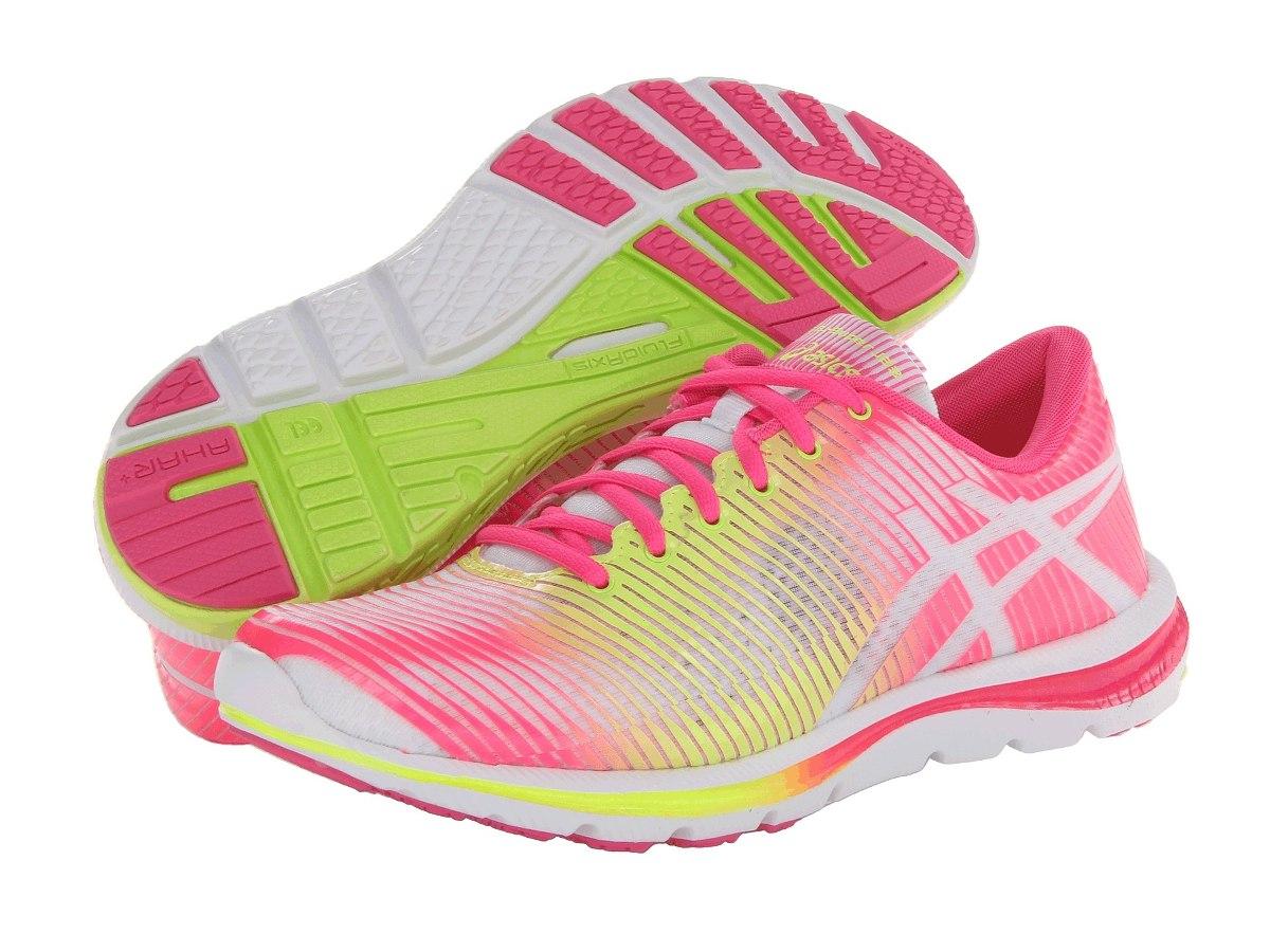 tenis asics rosa e amarelo