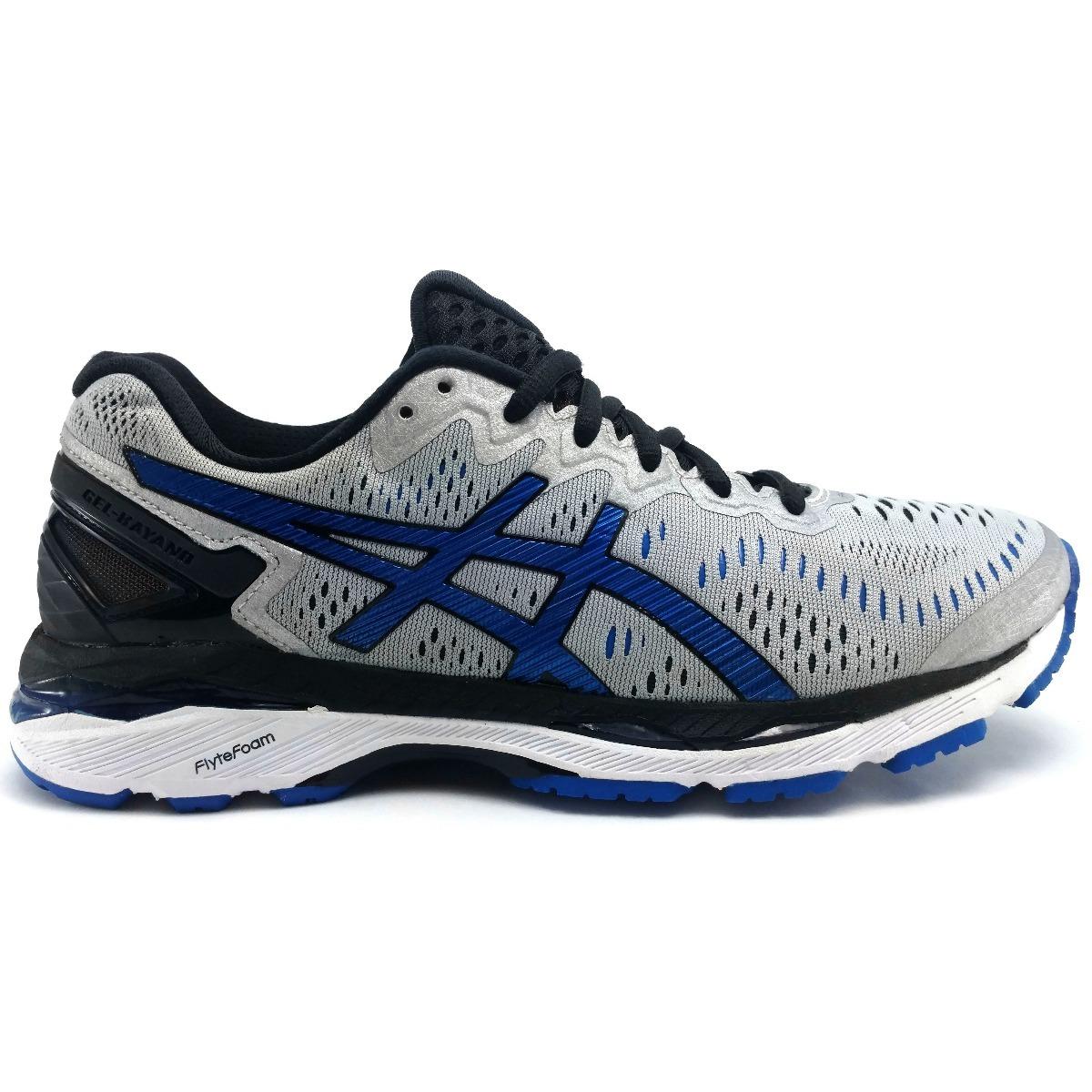 fecfc9a3 Tenis Asics Gel Kayano 23 Plata Azul Correr Running