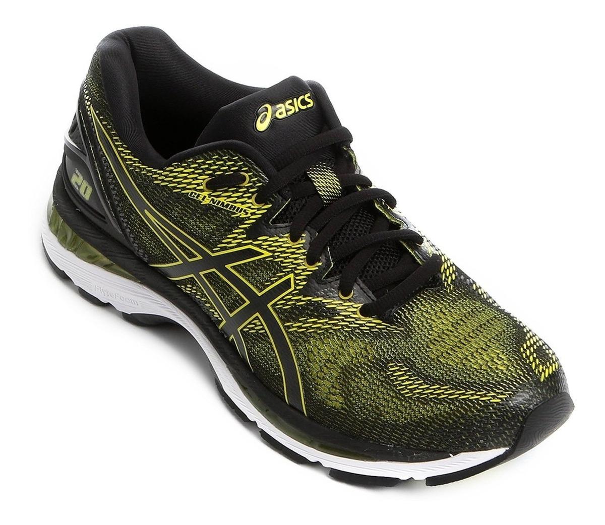 c3a8fa008b2b4 tenis asics gel-nimbus 20 masculino - preto/amarelo neon. Carregando zoom.