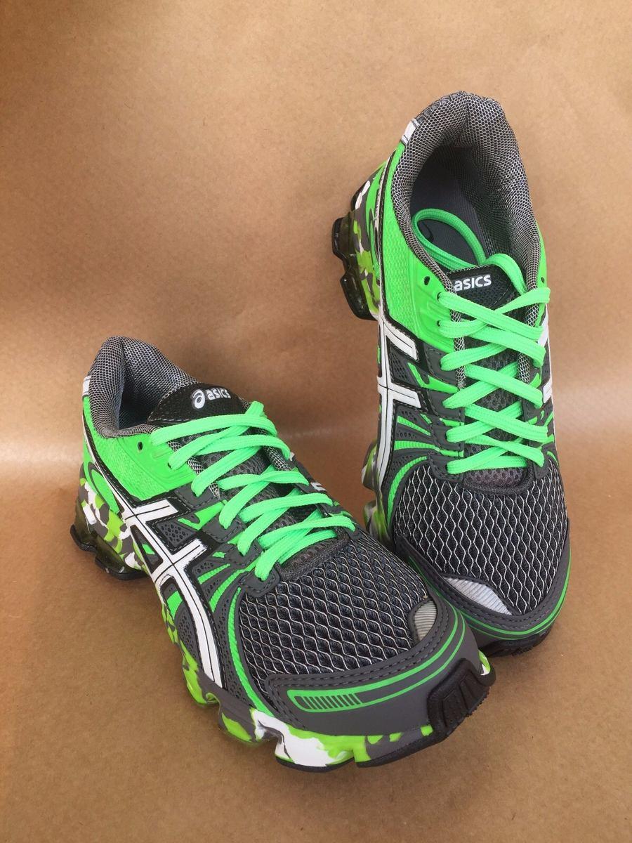 3dcb3cb72ff7a tenis asics gel noosa sendai masculino cinza grafite e verde. Carregando  zoom.