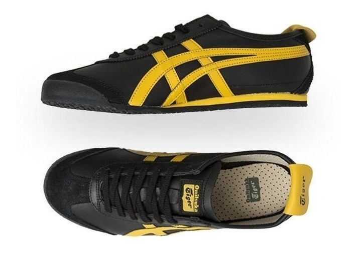 huge selection of f1f65 4f6b4 Tenis Asics Onitsuka Tiger Mexico 66 Black Yellow Men