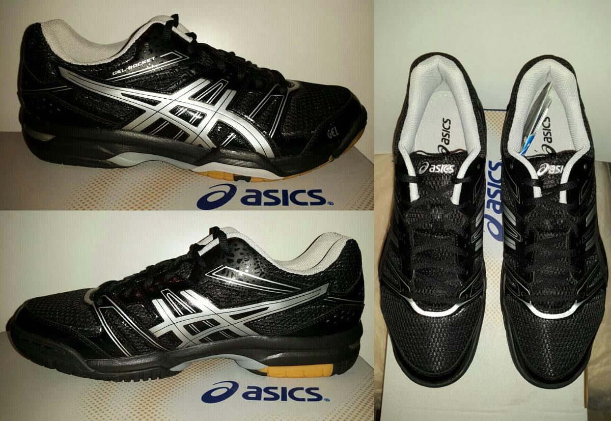 b4ae879858 Tenis Asics Rocket 7 Negro Para Voleibol