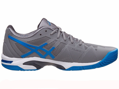 tenis asics solution speed 3 gris y azul