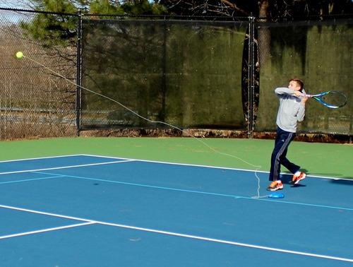 tenis base entrenadora con pelota fill&drill facturamos