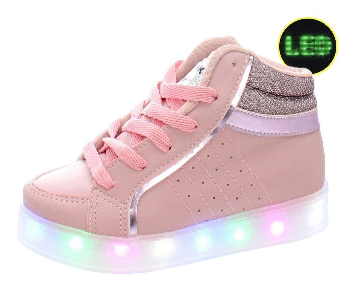 895696740c113f Tenis Bota Botinha Sneakers Infantil Feminina Meninas Led