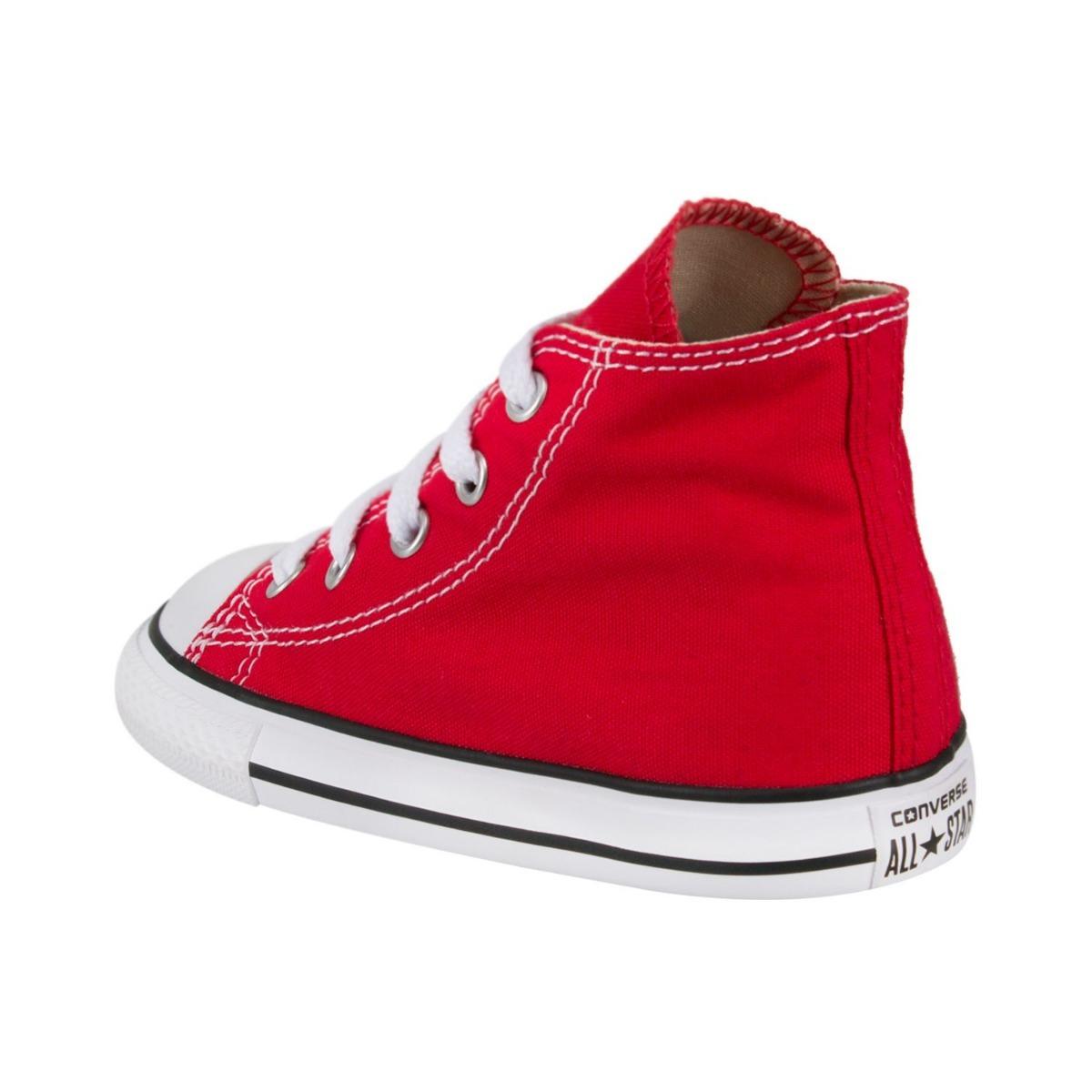 converse rojos bota niña