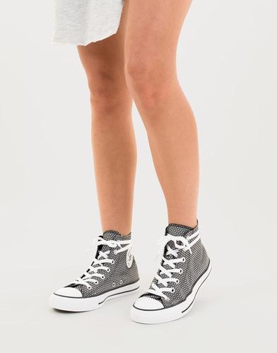 tenis bota estampados negros y blancos - converse