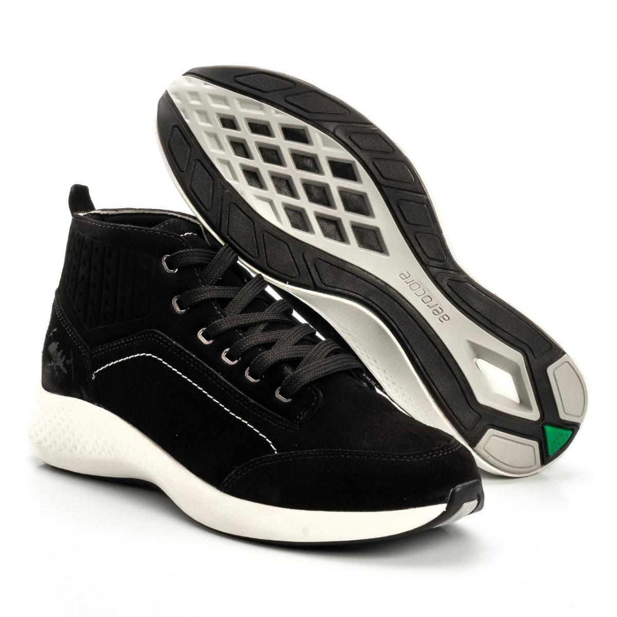f9a8b3d0da1 Tenis Bota Max Leather Masculino Em Couro Legitimo Macio ! - R  149 ...