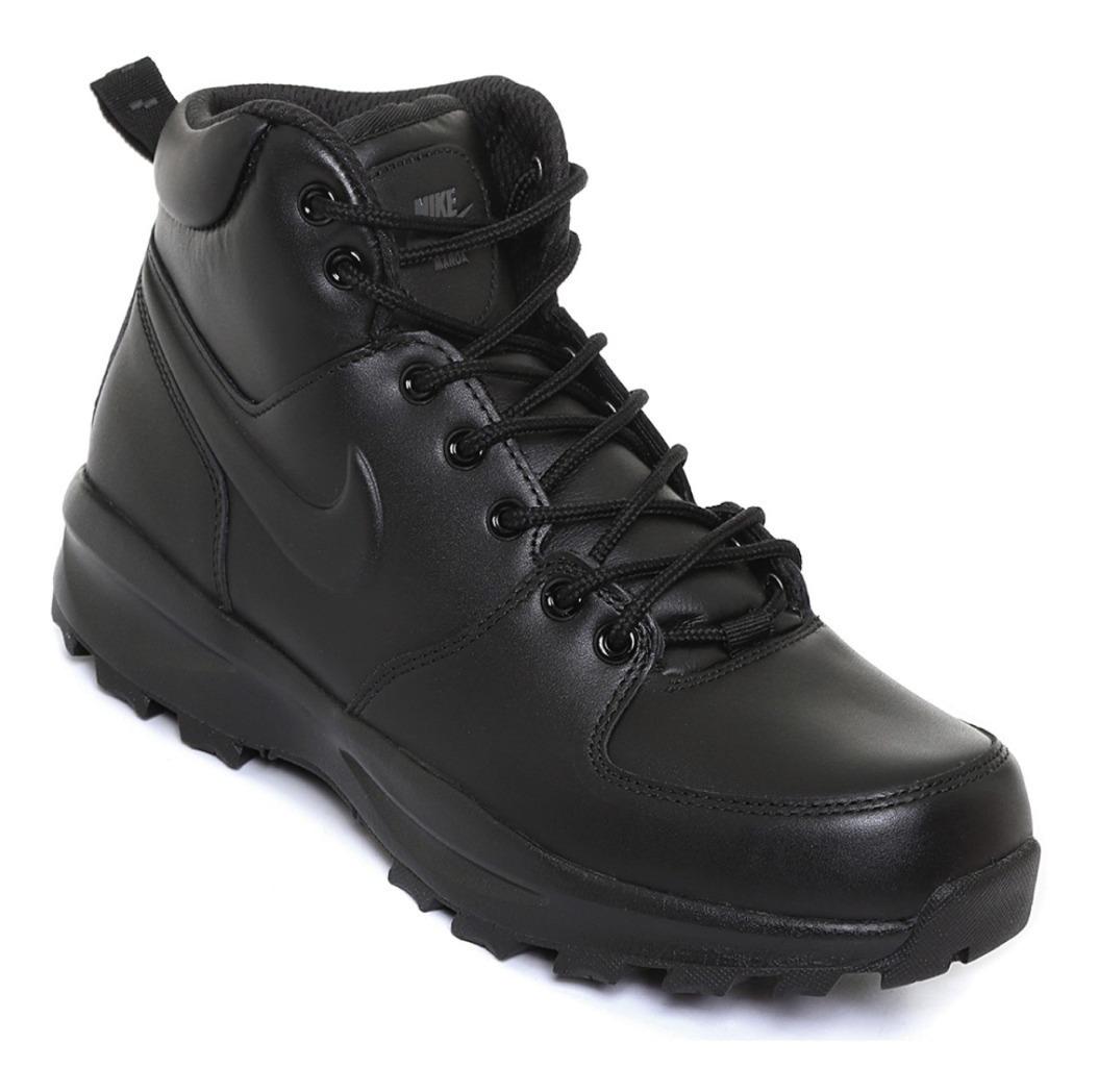 Tenis Bota Nike Manoa Leather Negro Hombre Nuevo 454350 003