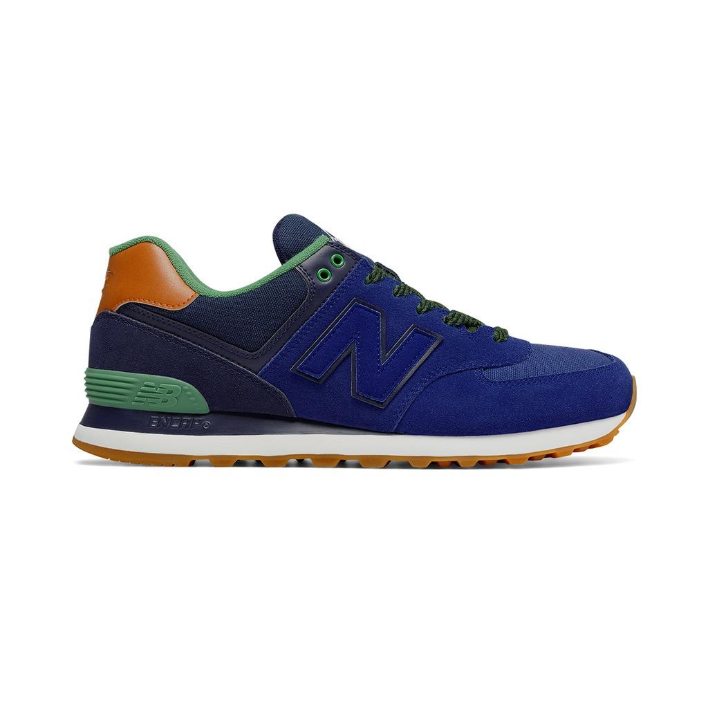 new balance azules y verdes