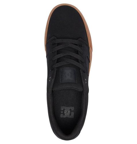 tenis calzado hombre zapato casual anvil kkg negro dc shoes
