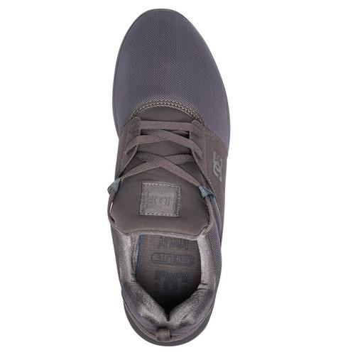 tenis calzado hombre zapato casual heathrow gry dc shoes