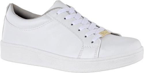 Tenis Casual Branco Nude Feminino Cr Shoes 4030 - R$ 70,00