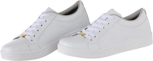 tenis casual branco nude feminino cr shoes 4030
