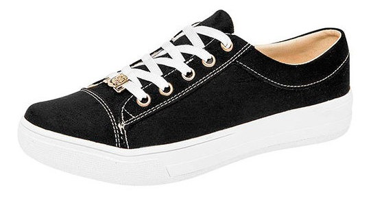 Tenis Casual Mujer Pk 85962  NazzCoche Negro